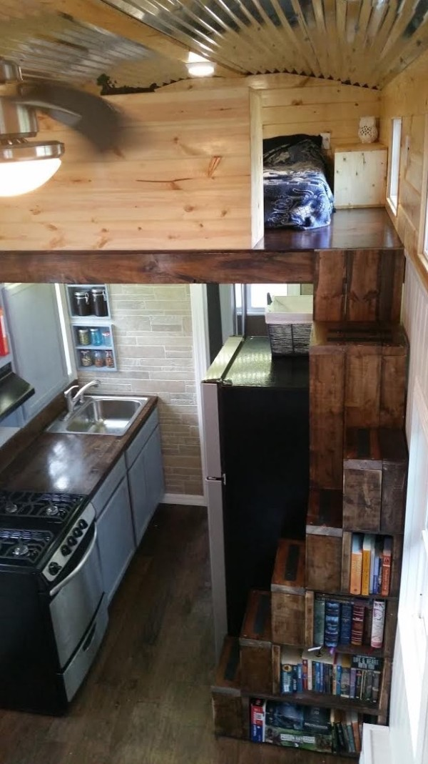 Donnas Tiny House Stairs | Simply Marie Tiny House Blog