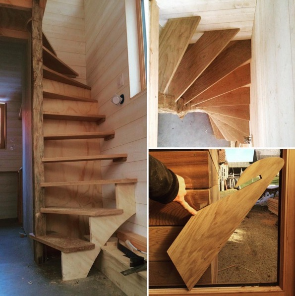 La Tiny House - Tiny House Loft Stairs | Simply Marie Tiny House Blog