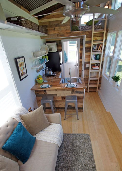 Tiny House Loft Ladder | Simply Marie Tiny House Blog