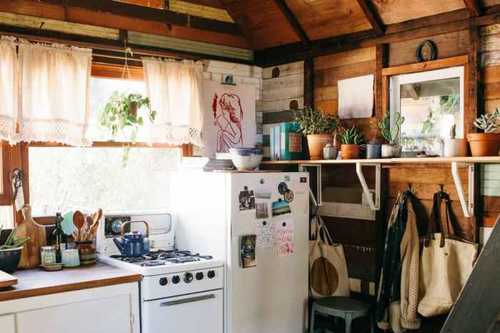 Coralie's Tiny Cabin - Kitchen | Simply Marie Tiny House Blog