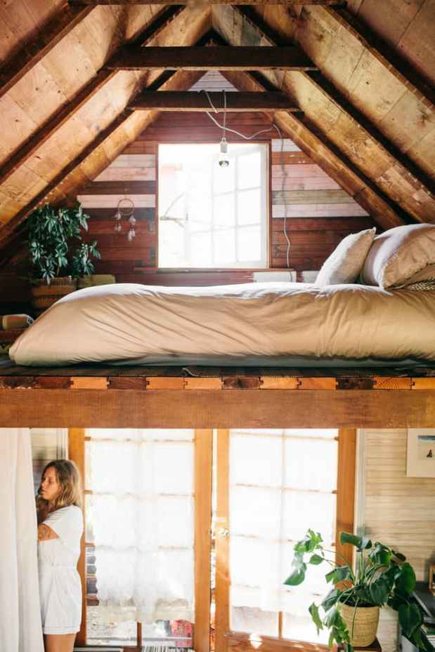 Coralie's Tiny Cabin - Lift | Simply Marie Tiny House Blog