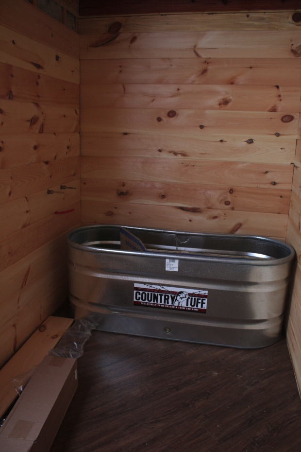 Steel Tub - Rustic Cedar Tiny House | Simply Marie Tiny House Blog