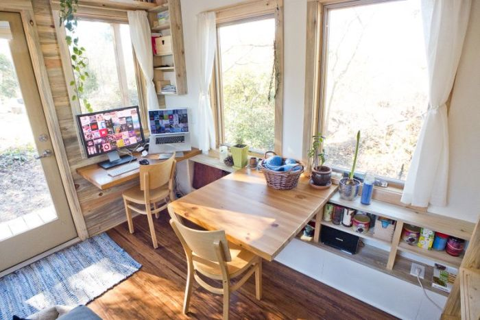 Tiny House workspace and desk.